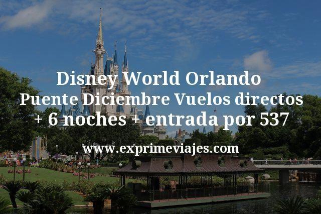 Disney World Orlando Puente Diciembre: Vuelos directos + 6 noches + entrada por 537