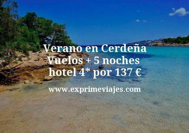 ¡Chollo! Verano en Cerdeña: Vuelos + 5 noches hotel 4* por 137euros