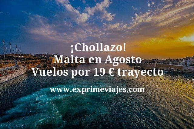 ¡Chollazo! Malta en Agosto: Vuelos por 19euros trayecto