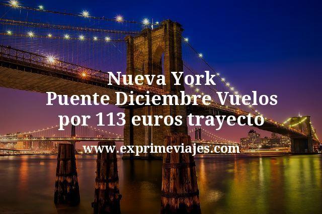 Nueva York Puente Diciembre: Vuelos por 113euros trayecto