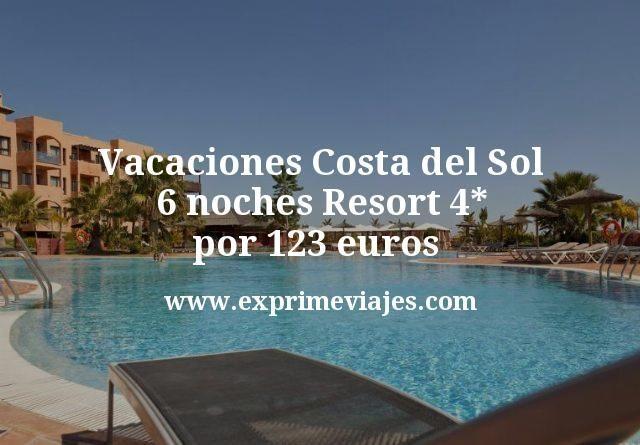 Vacaciones Costa del Sol: 6 noches Resort 4* por 123euros p.p