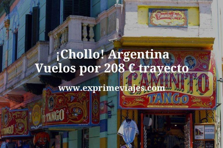 ¡Chollo! Argentina: Vuelos por 208€ trayecto