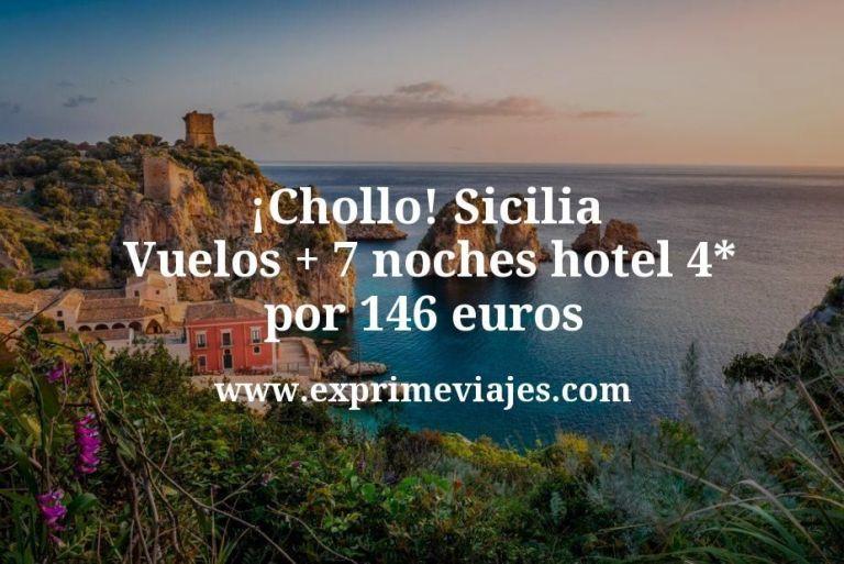 ¡Chollo! Sicilia: Vuelos + 7 noches hotel 4* por 146euros