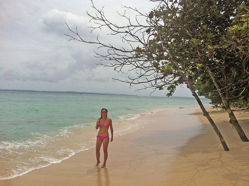 En una isla desierta muy cerca de Bocas del Toro, Panamá