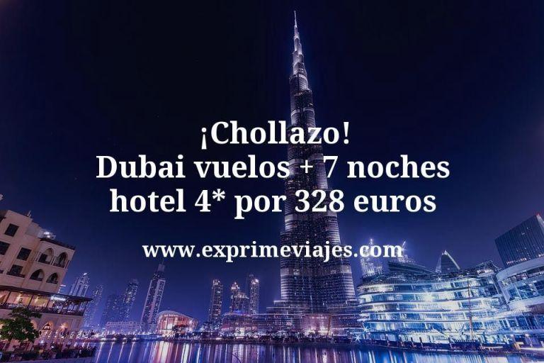 ¡Chollazo! Dubai: Vuelos +7 noches hotel 4* por 328euros