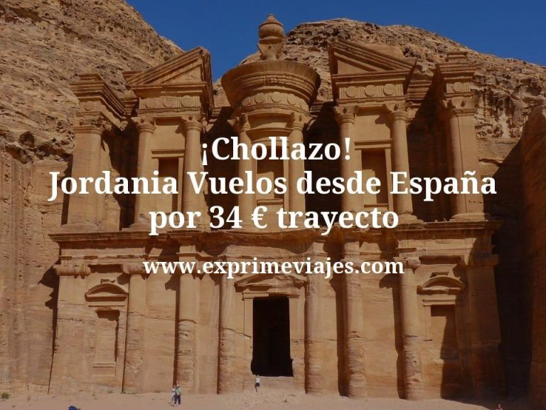 ¡Chollazo! Jordania: Vuelos desde España por 34euros trayecto