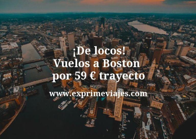 ¡De locos! Vuelos a Boston por 59euros trayecto