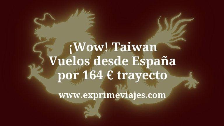 ¡Wow! Taiwan: Vuelos desde España por 164euros trayecto
