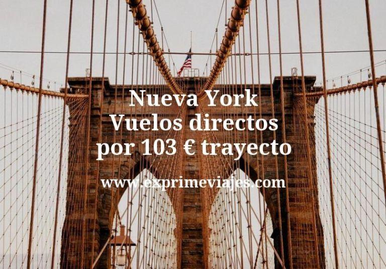 ¡Ganga! Nueva York: Vuelos directos por 103euros trayecto