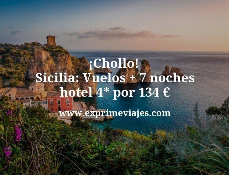 ¡Chollo! Sicilia: Vuelos + 7 noches hotel 4* por 134euros