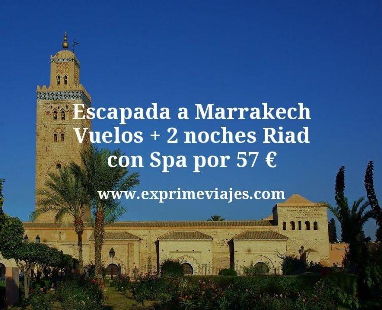 Escapada a Marrakech: Vuelos + 2 noches Riad con Spa por 57euros