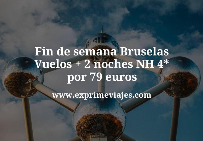 Fin de semana Bruselas: Vuelos + 2 noches NH 4* por 79euros