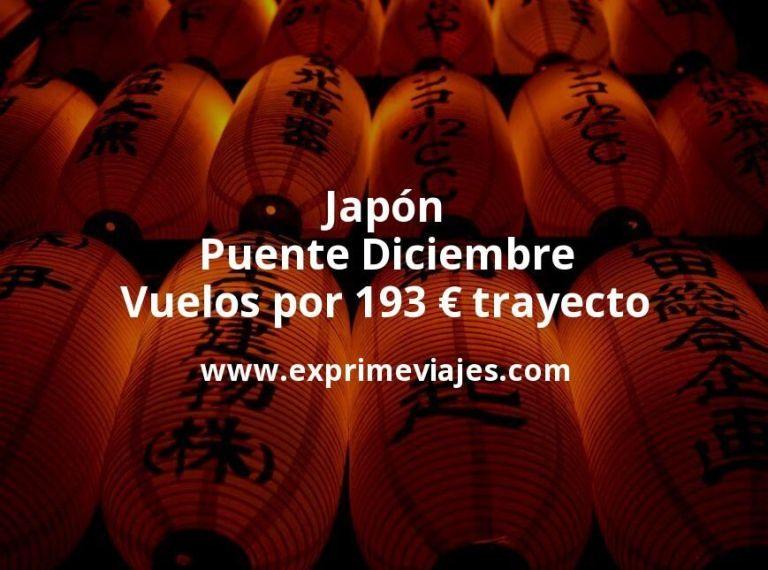 ¡Wow! Japón Puente Diciembre: Vuelos por 193euros trayecto