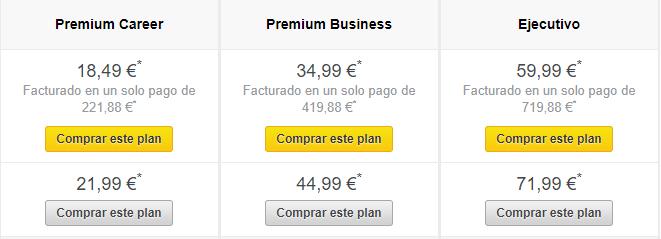 Cuentas Linkedin Premium