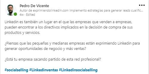 Hashtags en Linkedin qué es