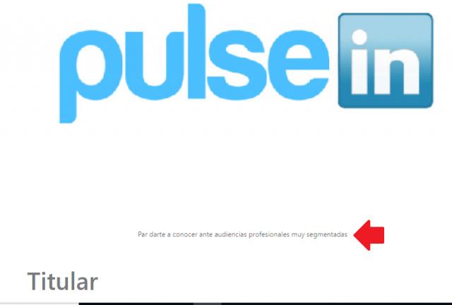 Linkedin Pulse añadir foto