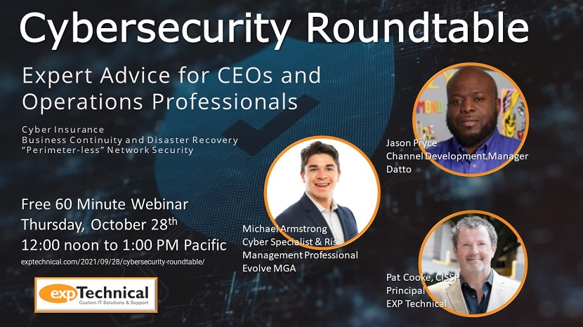 Webinar Announcement--Cybersecurity Roundtable