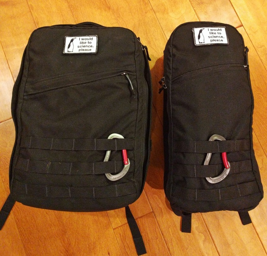 Goruck GR0 and Goruck Bullet side by side
