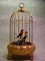 Singing Bird Cage Automaton - German 1900s