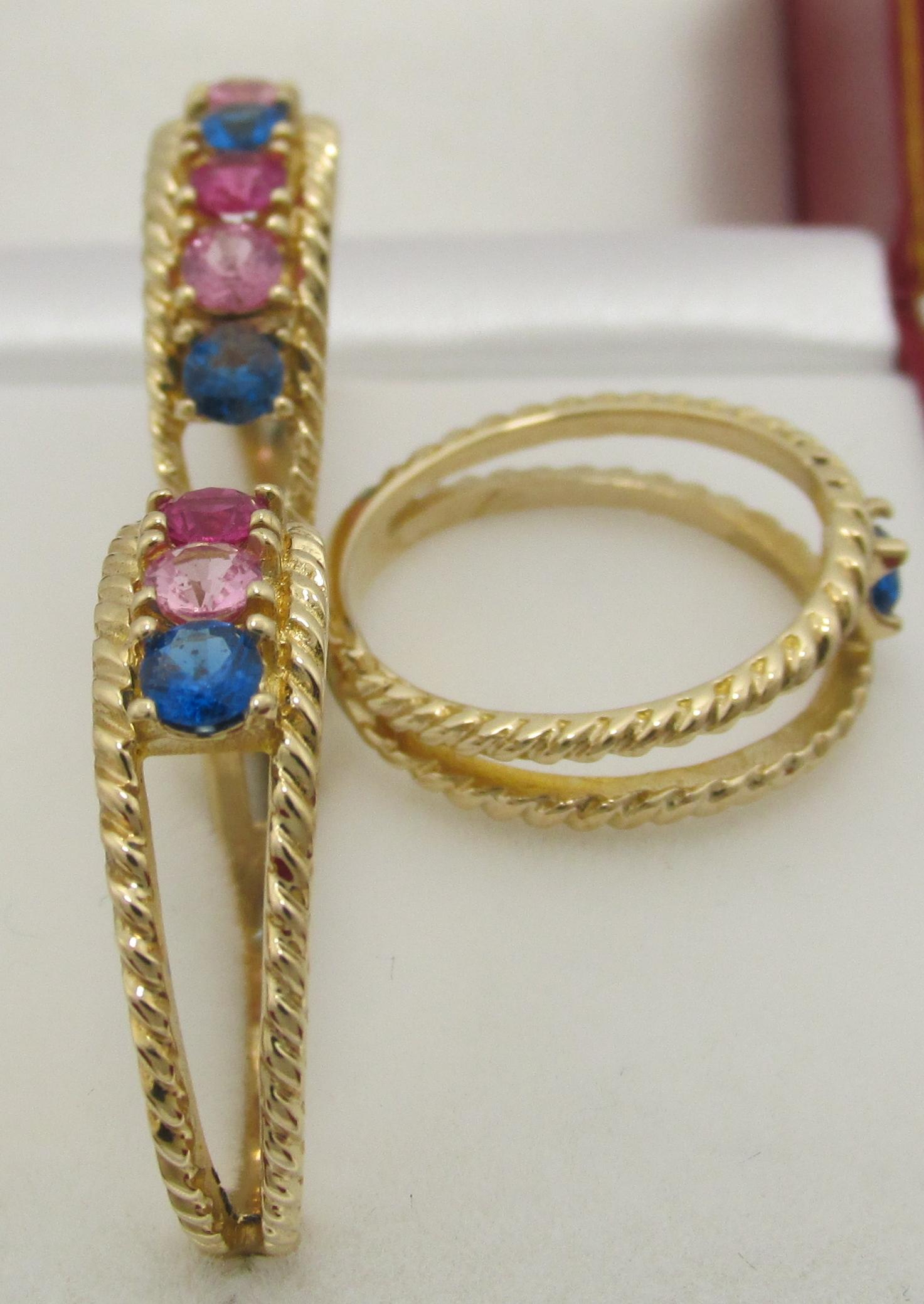 MothersFamilyNana Custom14K Rope Rings W 1 7