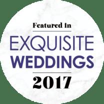 Featured in Exquisite Weddings 2017
