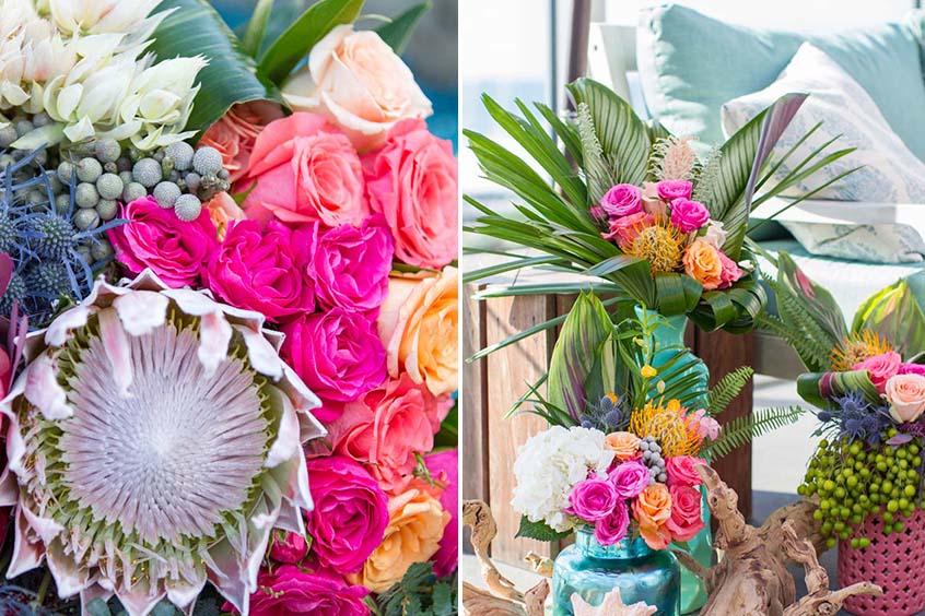 Wedding Decor Tropical Bouquet Ideas Amp Beachy Color