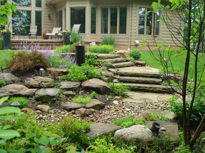 Custom Waterscape Design Cleveland | Exscape Designs on Meditation Patio Ideas  id=29133