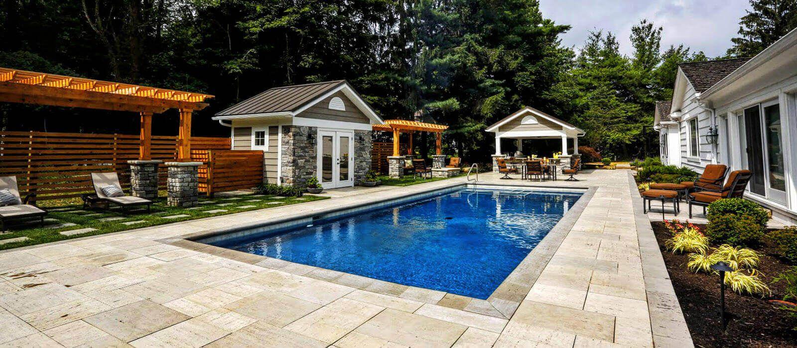 pool patio design exscape designs