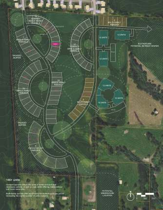 Drawing of planned community.
