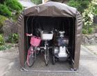 パイプ車庫「サイクルハウス」3台収納