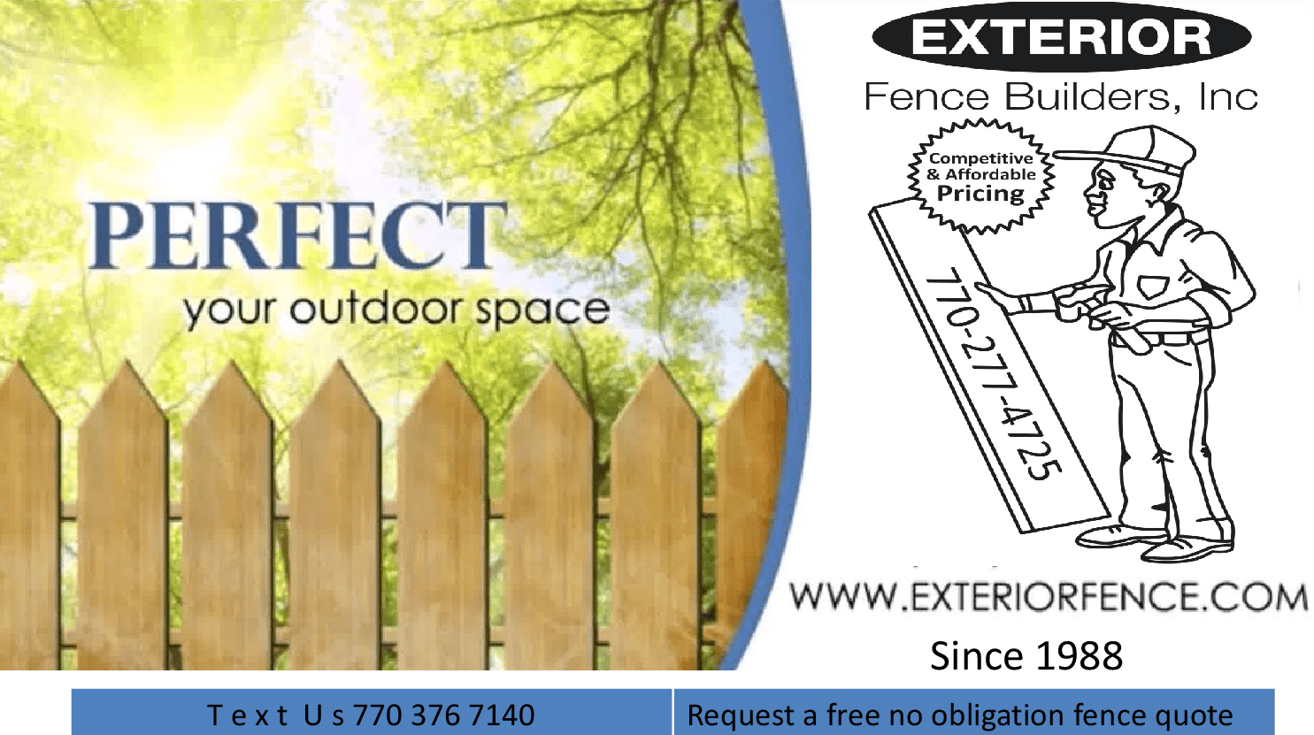 Exterior Fence Builders Trusted Fence Builders Since 1988