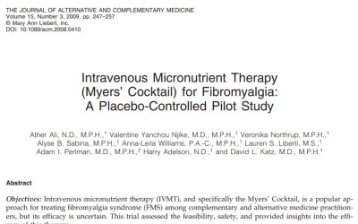 Intravenous Micronutrient Therapy (Myers' Cocktail) for Fibromyalgia
