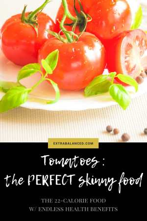 Tomatoes : they're basically the best food item for a babe on a balanced diet. With ENDLESS health & nutritional benefits, it's really the perfect skinny food. Click through now to Extra Balanced for the full deets!