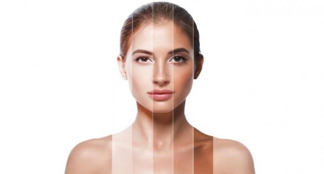 showing skin tones