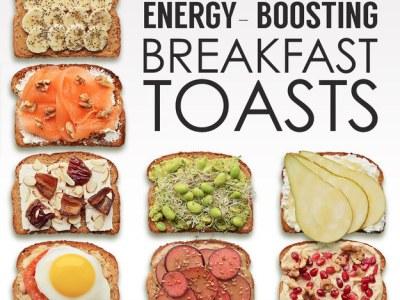 21 Energy-Boosting Breakfast Toast via Buzzfeed