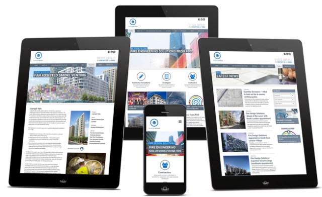 responsive web design for FDS