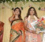 Tharika at Actress Meena Wedding Reception