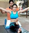 Bhumika Chawla and yoga expert Bharat Thakur Photo 05