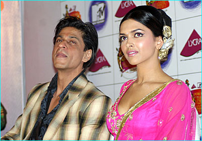 Deepika Shahrukh  MTV Lycra Awards