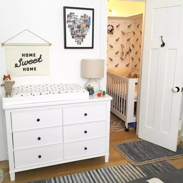 Closet nursery. Photo by Instagram user @michellemilesdesign