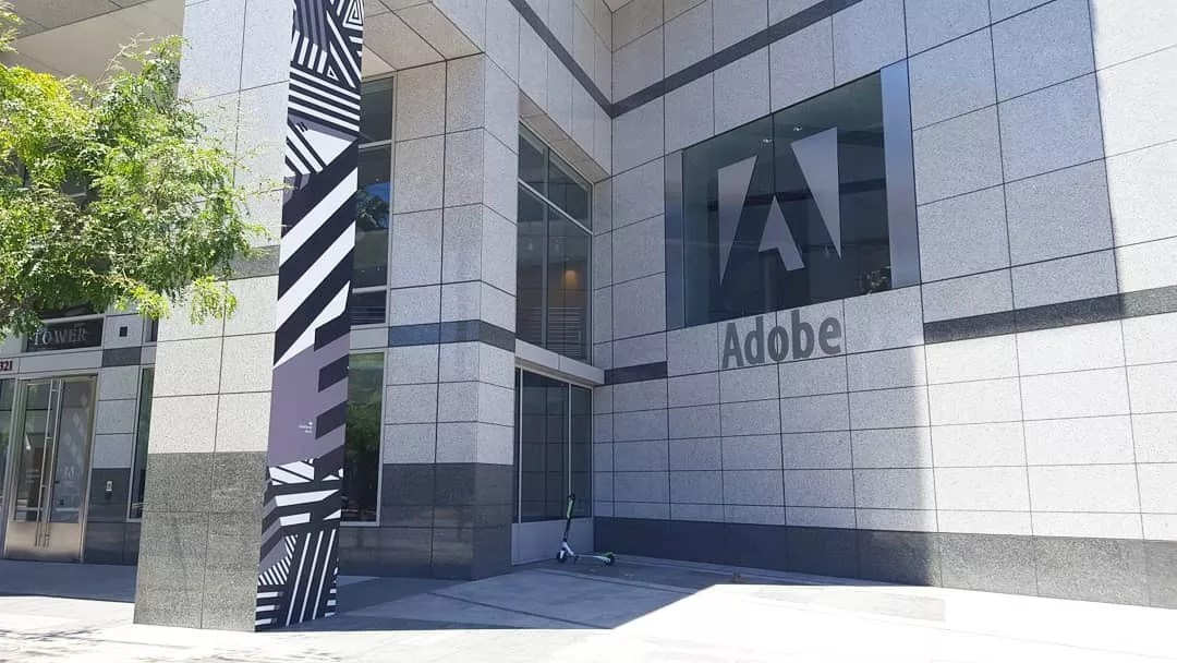Outside view of the Adobe World Headquarters. Photo by Instagram user @happy_life_sarah