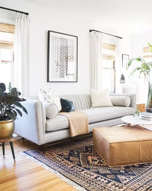 Living room with good natural light. Photo by Instagram user @christalowryrealestate