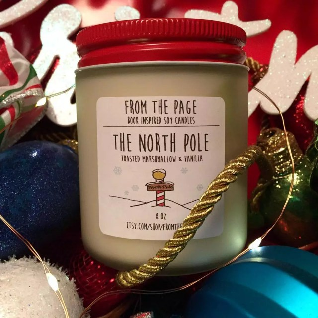 Specialty Christmas-Scented Candle. Photo by Instagram user @fromthepage