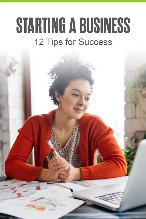 Pinterest Graphic: Starting a Business: 12 Tips for Success
