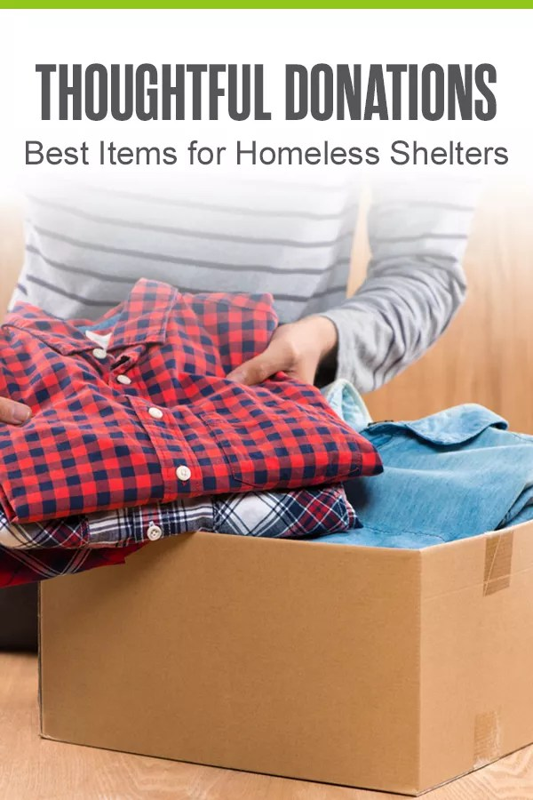 Pinterest Graphic: Thoughtful Donations: Best Items for Homeless Shelters