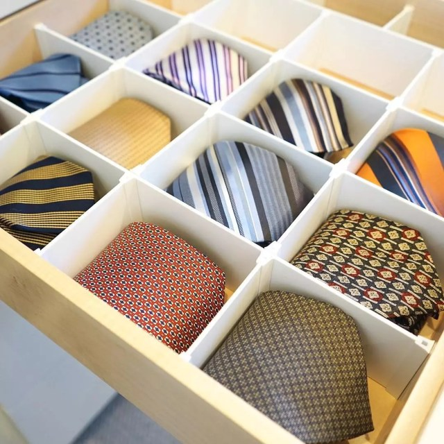 Box with Several Different Tie Variations. Photo by Instagram user @kuzakscloset