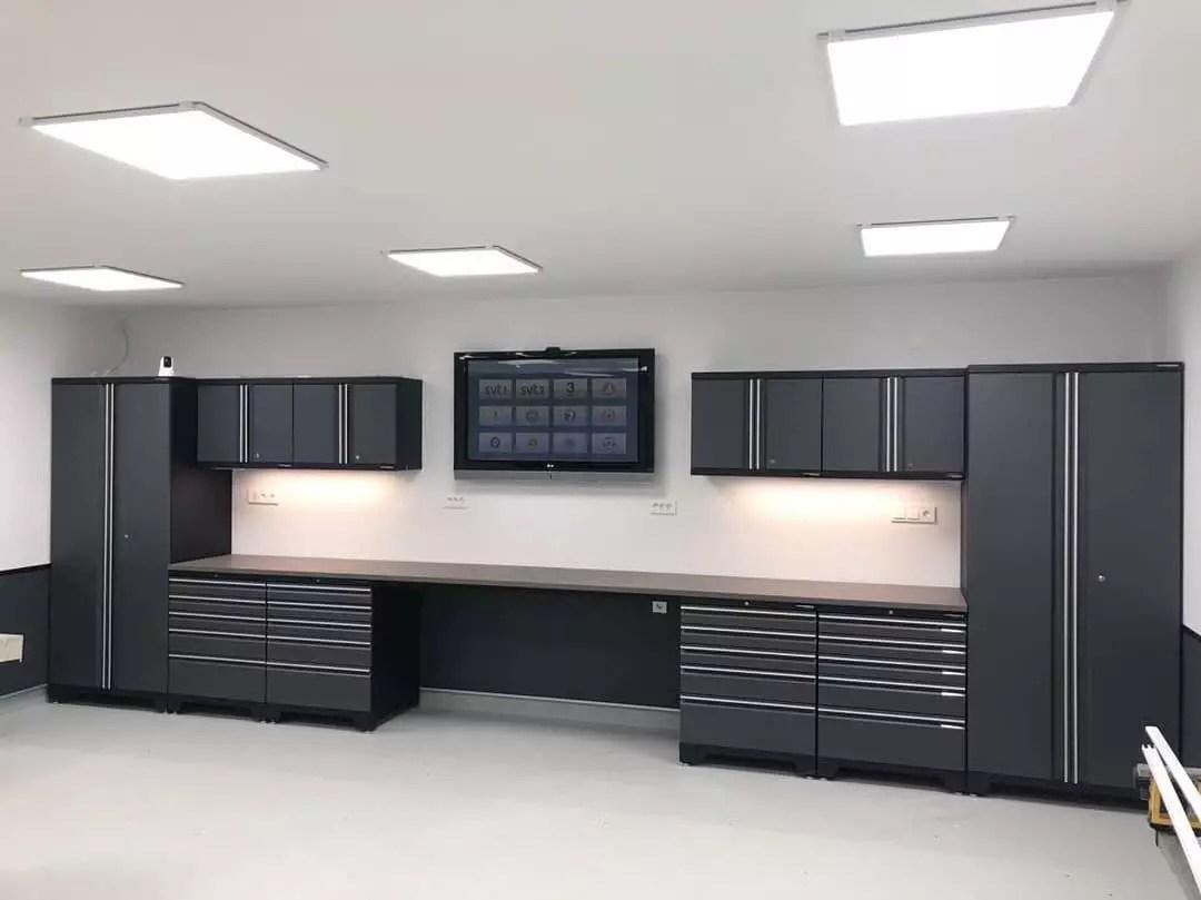 New Cabinet Storage in Garage. Photo by Instagram user @garagecabinets