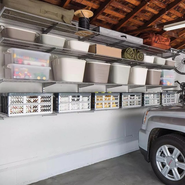 Plastic Storage Containers and Tubs in Garage. Photo by Instagram user @thecontainerstore