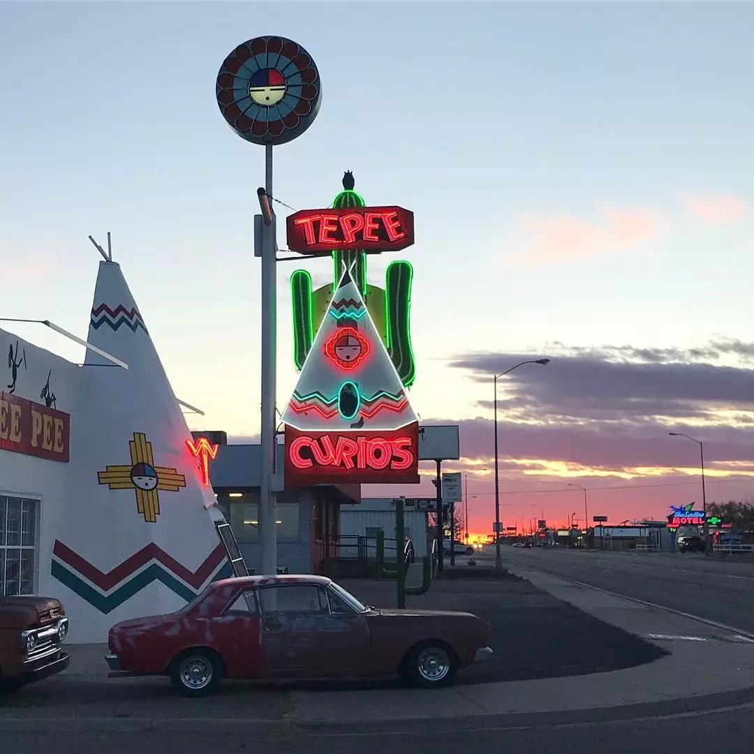 Tee Pee Curious Gift Shop in Tucumcari, NM. Photo by Instagram user @shoedazed