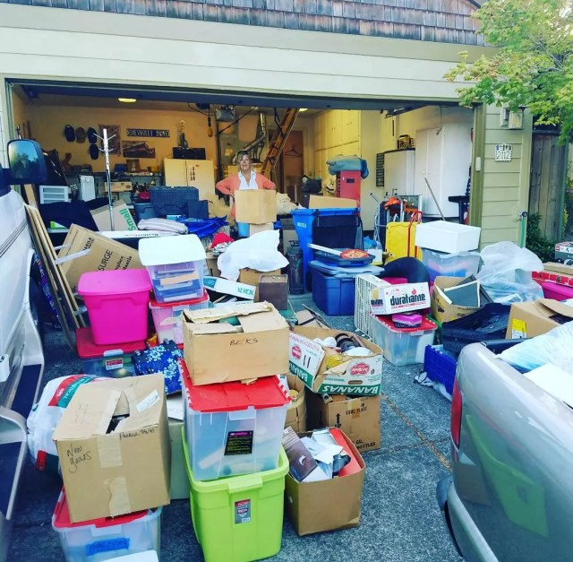 Woman clearing out home attic. Photo by Instagram user @jaizcarter